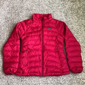 Patagonia Raspberry Down Puffer Jacket